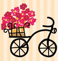 Flowers on Bike vector image