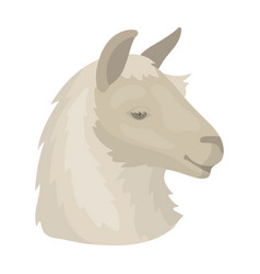 lama icon in cartoon style isolated on white vector image