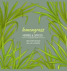 lemongrass frame vector image