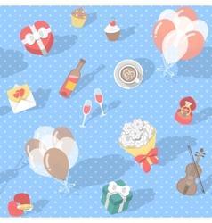 Love Pattern Polka Dot vector image