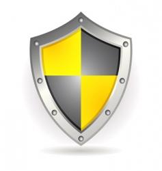 metal shield vector image