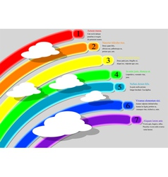 rainbow infographics vector image vector image