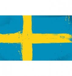 Swedish flag grunge style vector image vector image