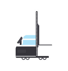 warehouse hand truck in flat design vector image vector image