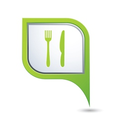 knife AND fork GREEN pointer vector image vector image