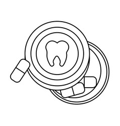 Medication dental care related icon image vector