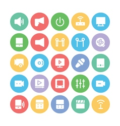 Multimedia Colored Icons 8 vector image