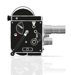 old retro vintage movie video camera 01 vector image
