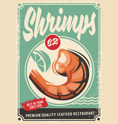 seafood restaurant poster design vector image vector image