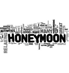 where to honeymoon my love text word cloud concept vector image