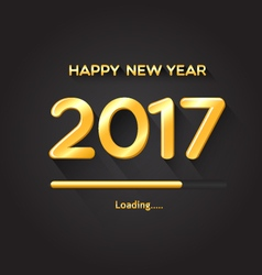 2017 loading progress bar-Happy New Year concept vector image