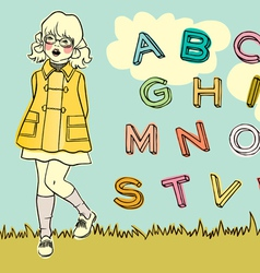 abc girl vector image vector image