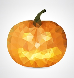 Abstract geometric halloween smile pumpkin vector