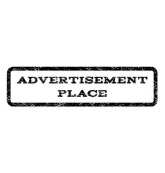 Advertisement place watermark stamp vector