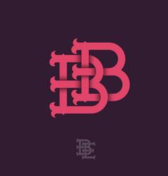 B b monogram vector