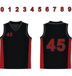 basketball jersey vector image
