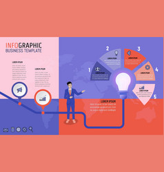 Business man infographic template for vector