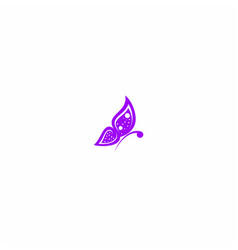 butterfly purple symbol design vector image