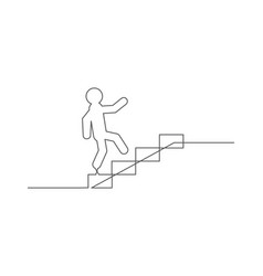 career one line drawing vector image