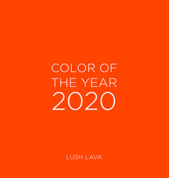 Classic blue color year 2020 vector