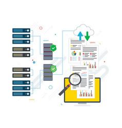 cloud computing big data analysis and data mining vector image