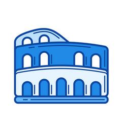 colosseum line icon vector image