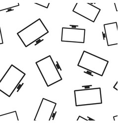 computer monitor seamless pattern background vector image