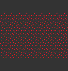 contrast modern background red dots on gray vector image