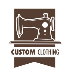 Custom clothing making clothes at atelier by vector