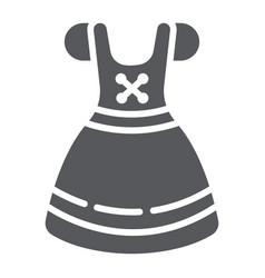 Dirndl glyph icon clothes and austria vector