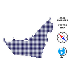 Dotted arab emirates map vector