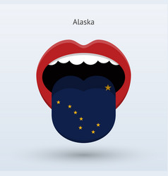 electoral vote of alaska abstract mouth vector image
