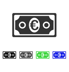 Euro banknote flat icon vector