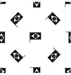 Flag of brazil pattern seamless black vector