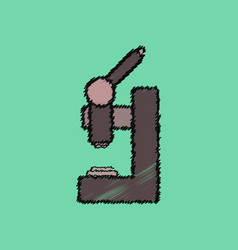 Flat shading style icon laboratory microscope vector