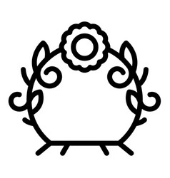 Flower design arch icon outline style vector