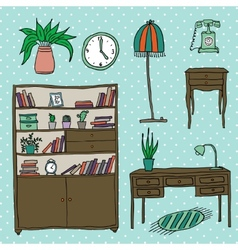 Furniture - Set of design elements vector image