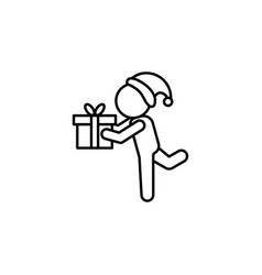give my gift symbol on white background vector image