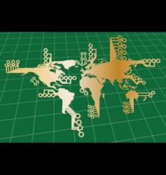 globe illustration vector image