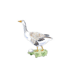 Goose with egg for 12 days christmas charms vector