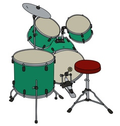 Green percussion set vector