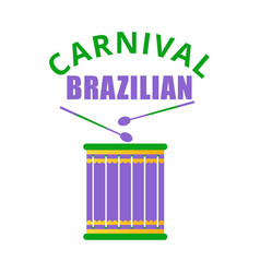 happy brazilian carnival day colorful carnival vector image