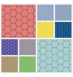 Hexagonal cellcolorful background vector