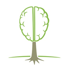 human brain tree symbol vector image