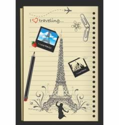 I love Paris vector