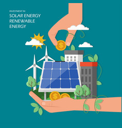 Investment in solar renewable energy vector