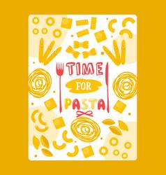 italian pasta poster vector image