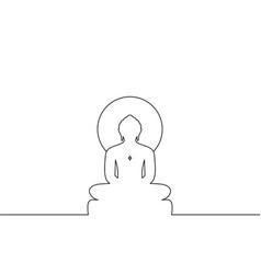 Jain idol line art vector