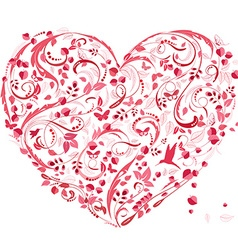 lovely floral heart for your design vector image vector image