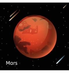 Mars planet 3d vector